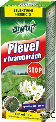 Plevel v bramborách Stop 100 ml Agro Selektivní systémový herbicid k hubení plevelů v bramborách. Arcade 880EC spektrum účinnosti: dvouděložné plevele jednoleté (merlík