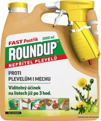 Roundup Fast 3 l rozprašovač Popis:·         totální herbicid = přípravek k hubení mladých