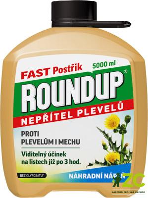 Roundup Fast 5 l náhradní náplň Popis:·         totální herbicid = přípravek k hubení mladých