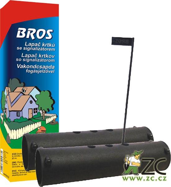 Bros - past trubková se signalizací Popis a použití:Bros lapač krtků je ekologické odchytové zařízení pro odchyt krtků a norníků. Umožňuje hlodavcům vejít dovnitř