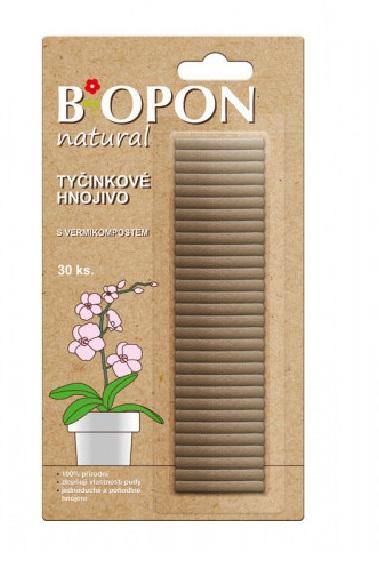 Tyčinky - Bopon s vermikompostem 30 ks Popis:100% přírodní hnojivo ve formě tyčinek