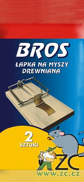 Bros - pastička dřevěná malá myš sada 2 ks Popis a použití:Pastička dřevěná na hubení myší s účinným mechanismem. Balení obsahuje 2 ks. Rozměry:4
