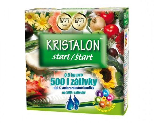 Kristalon START 500g Univerzální hnojivo s mikroprvky vhodné pro přihnojování na začátku vegetace a v období intenzivního růstuZpůsobuje nárůst zelené hmoty u pokojových