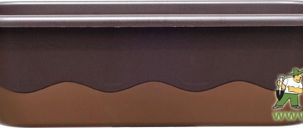 Truhlík samozavlažovací Mareta 60 cm čokoládová + bronzová Popis:Plastový samozavlažovací truhlík Mareta obsahuje hladinoměr