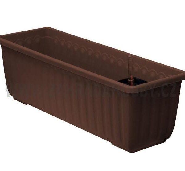Truhlík samozavlažovací Siesta LUX 60 cm čokoládový Popis:Plastový samozavlažovací truhlík Siesta LUX obsahuje jednu vložku