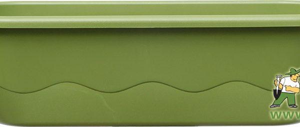 Truhlík samozavlažovací Mareta 60 cm sv.zel + tm.zel. Popis:Plastový samozavlažovací truhlík Mareta obsahuje hladinoměr