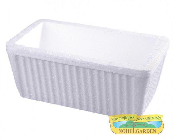Truhlík polystyren - malý Popis:Polystyrénový truhlík se využívá pro pěstování rostlin v chladnějším období roku.Rozměr:Délka: 26