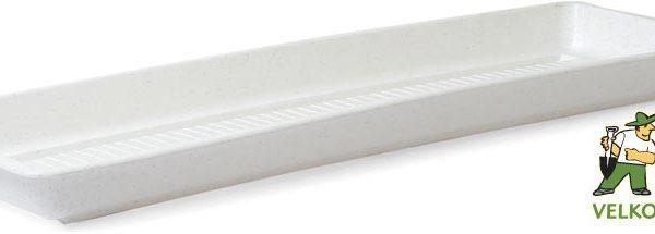 Miska pod truhlík Garden/Pelargonie 80 cm granit Popis:Plastová miska na vodu pod květinový truhlík GARDEN.Materiál:plastBarva:granitRozměry:délka: 100 cmšířka: 14
