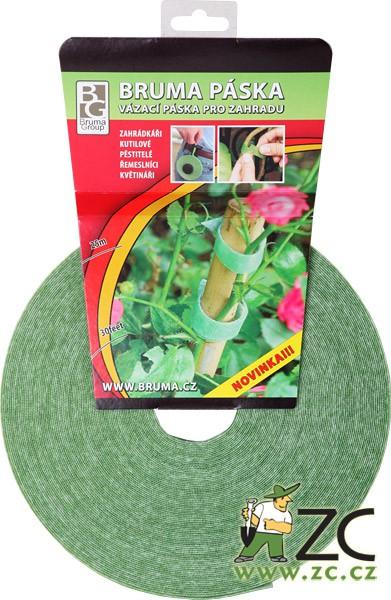 Bruma páska - 25 m Popis:Páska funguje na principu suchého zipu. Umožňuje několikeré použití a slouží zejména k uvazování rostlin a svazkování