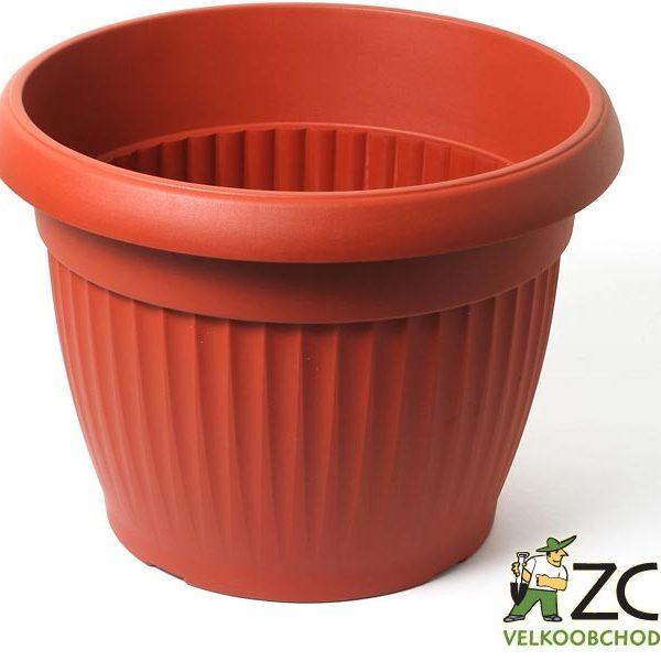 Květináč Similcotto 30 cm terakota Popis:Květináč s dezénem a odtokovými otvory v barvě teracota.Miska vhodná ke květináči: Similcotto 30 cm.Materiál:plastBarva:teracotaRozměry:průměr: 30 cmvýška: 23 cm