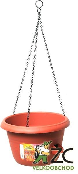 Žardina samozavlažovací Siesta závěs 25 cm terracota Popis:Žardiny s profesionálním zavlažovacím systémem (včetně kovového řetízku na zavěšení).Materiál:plastBarva:teracotováRozměry:průměr: 25 cmvýška: 15