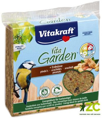 Blok Energy s oříšky - 300 g Vita Garden Popis produktuDoplňkové krmivo pro zahradní ptactvo